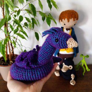 Le Journal de Lalu, blog crochet, tuto Occamy au crochet, Animaux fantastiques