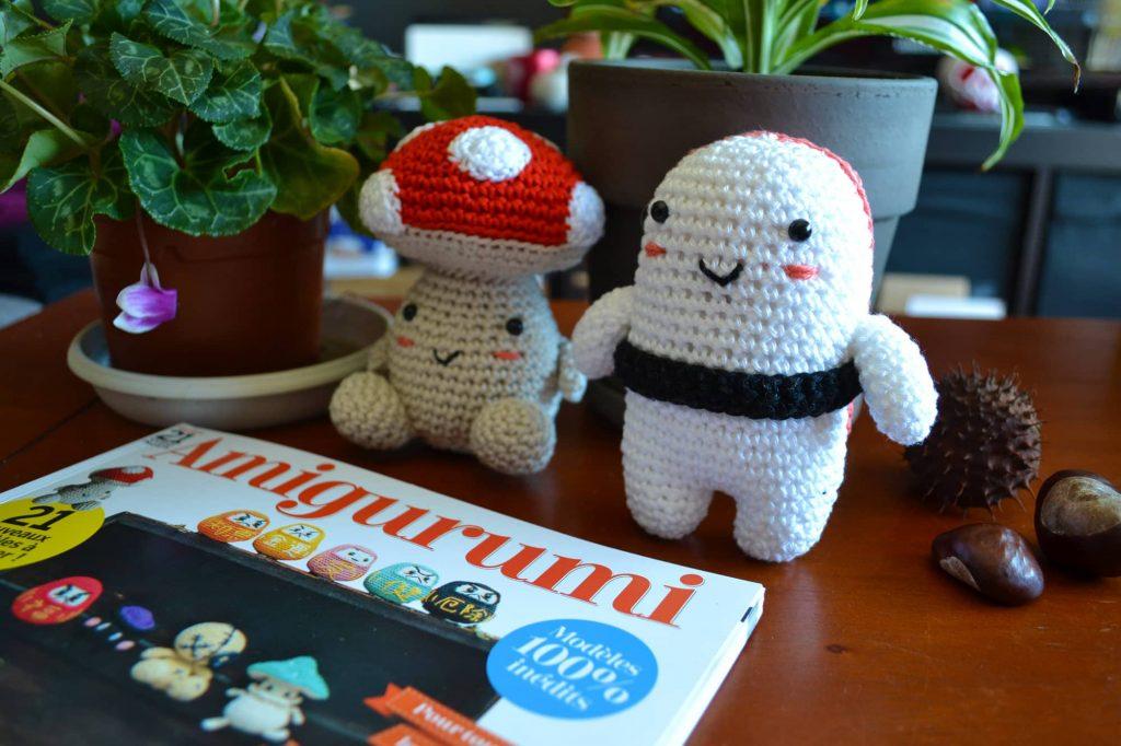 Le Journal de Lalu, mon Champigurumi et mon Sushigurumi dans le magazine Amigurumi