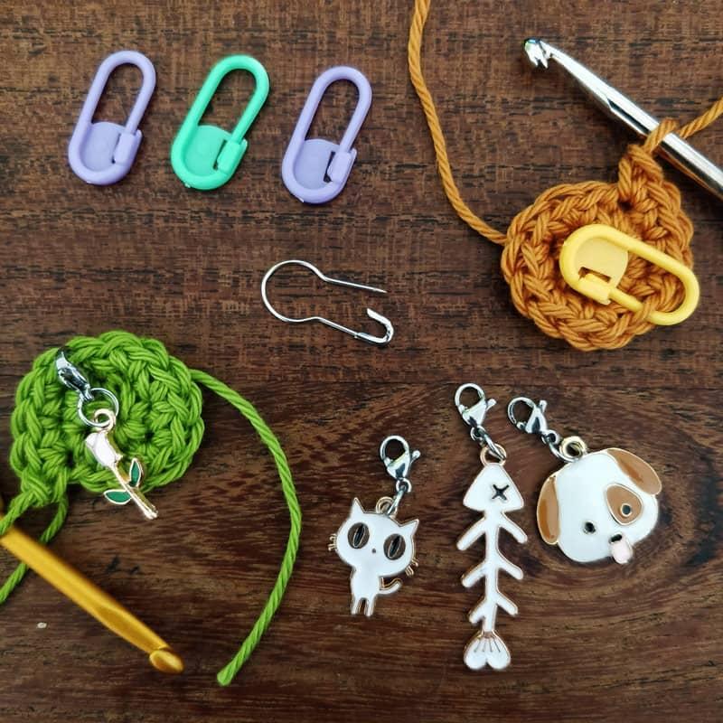 Accessoires pour le crochet, les marqueurs