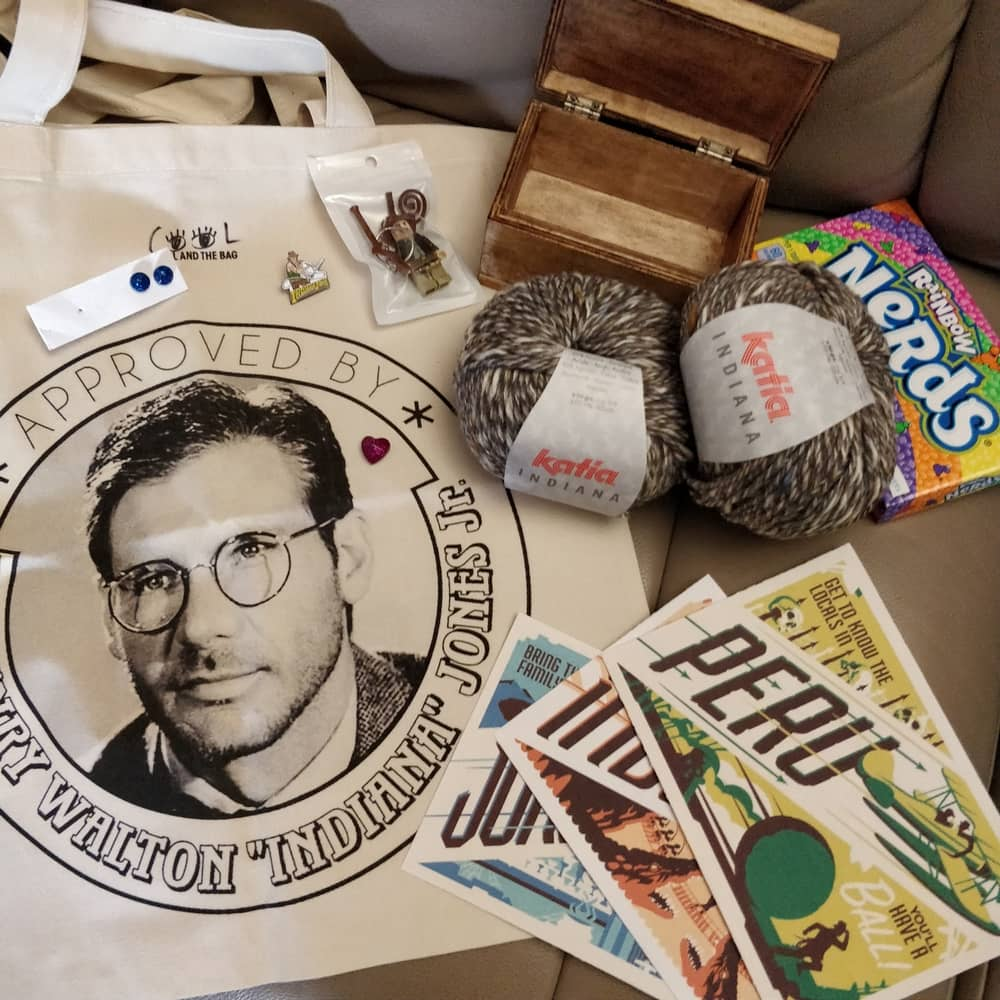 Le Journal de Lalu, Swap des Geeks créatif édition 2 colis Indiana Jones