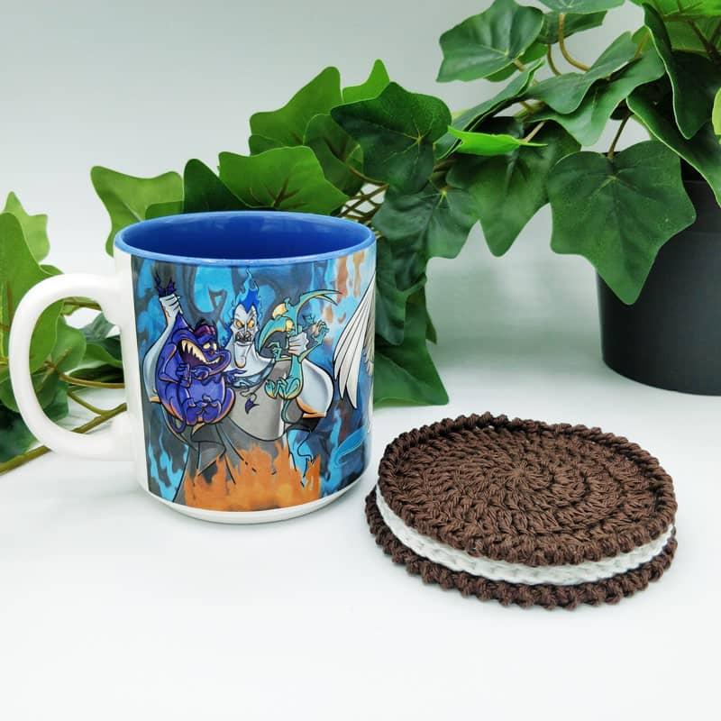 L'Univers de Lalu, dessous de tasse au crochet Oreo