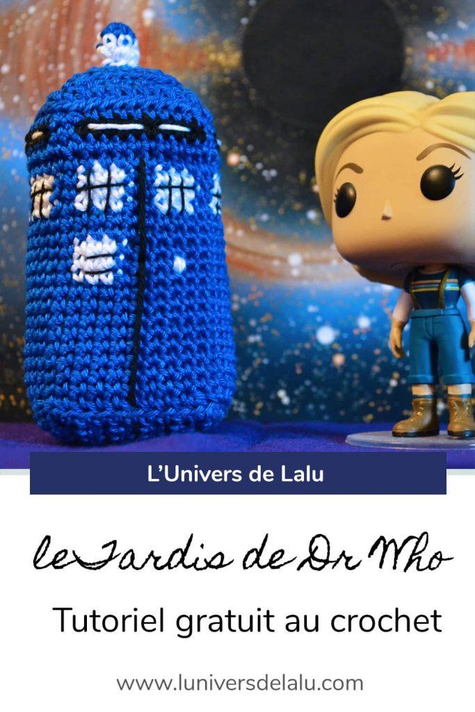 Epingle Pinterest tuto crochet du Tardis de Doctor Who