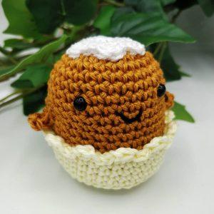 Tuto gratuit au crochet pour réaliser un mini Cupcake au crochet, par l'Univers de Lalu
