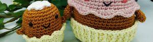 Read more about the article Délicieux tuto gratuit au crochet de petit cupcake