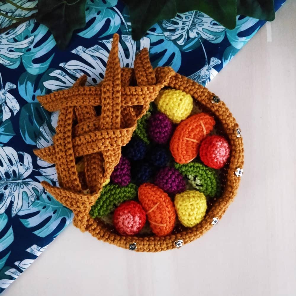 Douceurs d'été, tarte aux fruits au crochet