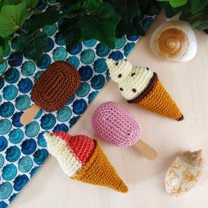 Douceurs d'été, glaces au crochet