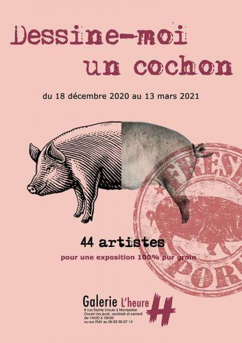 Affiche exposition Dessine-moi un cochon (1)