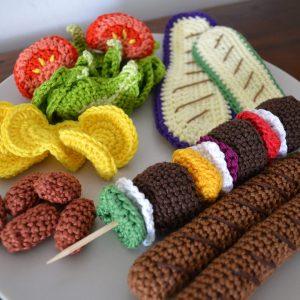 Le Journal de Lalu, blog crochet, dînette de Lalu barbecue au crochet, patron