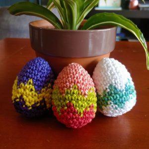 Le Journal de Lalu, blog crochet, tutoriel gratuit la Dînette de Lalu, œufs de Pâques au crochet
