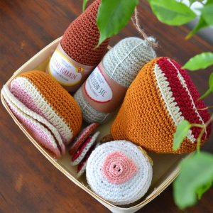 Le Journal de Lalu, blog crochet, dînette de Lalu charcuterie au crochet, patron