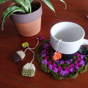 Le Journal de Lalu, blog crochet, la Dînette de Lalu sachet de thé au crochet, tuto gratuit