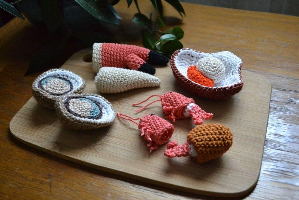Le Journal de Lalu, blog, la Dînette de Lalu, Coquillages et crustacés crochet
