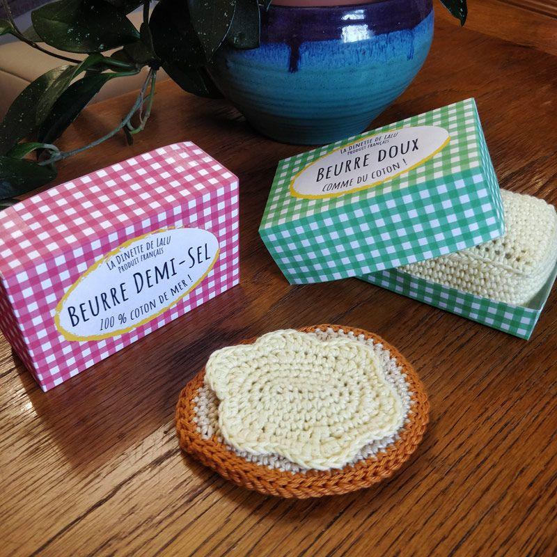 Le Journal de Lalu, blog crochet, La dînette de Lalu petit déjeuner au crochet