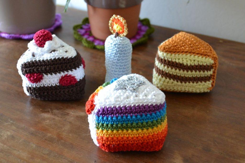 Le Journal de Lalu, blog crochet, la dînette de Lalu, gâteaux au crochet